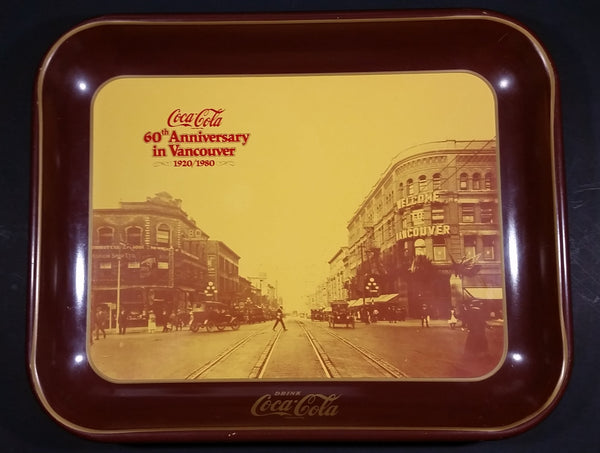 Vintage 1980 60th Anniversary of Coca-Cola in Vancouver 1920-1980 Georgia Street Official Tray - Treasure Valley Antiques & Collectibles