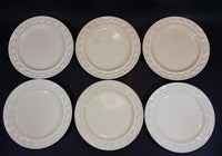 "1920s Royal Adams Ivory Titan Ware Patent 70566 ""Della Robia"" Pattern Italian Majolica Style Plates - Set of 6 - Treasure Valley Antiques & Collectibles"