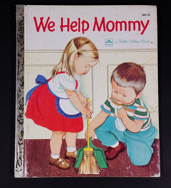 "1959 We Help Mommy - Little Golden Books - 305-42 - ""S"" Edition - Collectible Children's Book"