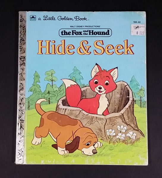 "1981 Walt Disney The Fox and the Hound ""Hide & Seek"" - Little Golden Books - 104-44 - ""G"" Edition - Collectible Children's Book - Treasure Valley Antiques & Collectibles"