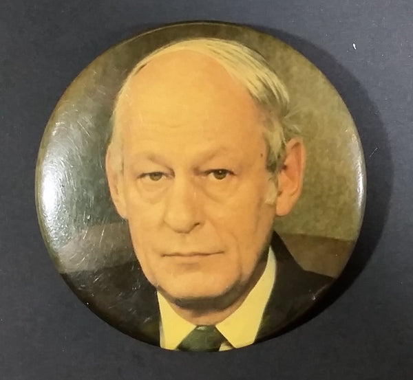 1981 René Lévesque Leader and Premier of Parti Quebecois Re-Election Campaign Button Pin