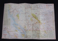 1965 Home Oil Distributors Vancouver Road Maps of British Columbia Alberta and Canada