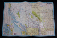 1964 Chevron Gasolines British Columbia and Alberta Points of Interest and Touring Map - With Alaska - Treasure Valley Antiques & Collectibles