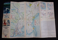 1964 Chevron Gasolines British Columbia and Alberta Points of Interest and Touring Map - With Alaska