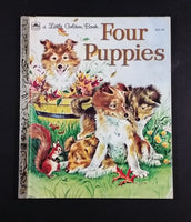 "1960 Four Puppies - Little Golden Books - 303-42 - ""M"" Edition - Collectible Children's Book"
