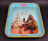 Rare 1957 Coca-Cola Coke Blue and Yellow Bird House Drink Serving Tray - Refreshing Delicious - Treasure Valley Antiques & Collectibles