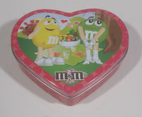 Collectible M&M's Valentine Heart Tin Box Container Canister Mars Inc. 2010 - Treasure Valley Antiques & Collectibles