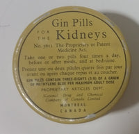 1940s National Drug and Chemical Company of Canada Limited BDC Gin Pills For The Kidneys Tin - Treasure Valley Antiques & Collectibles