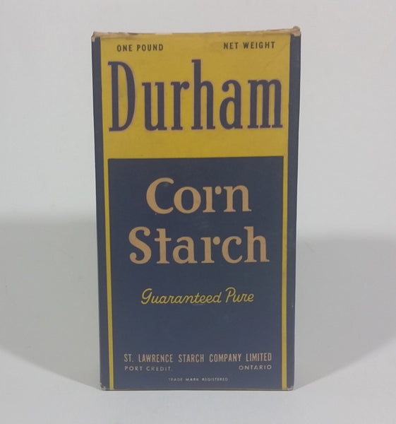 Vintage Rare Durham Corn Starch Box - The St. Lawrence Starch Company of Port Credit Ontario - Treasure Valley Antiques & Collectibles