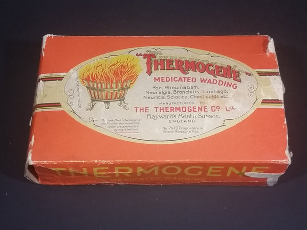 Early 1900s Thermogene Medicated Wadding Hayward's Health Sussex, England Pat. No. 7470 Still in Box - Treasure Valley Antiques & Collectibles