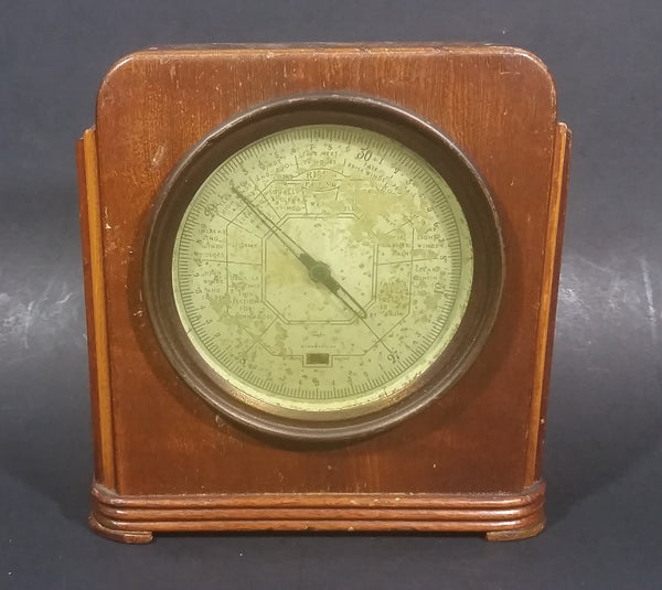 c.1926 Antique Taylor Stormoguide Weather Barometer in Wood Case - Treasure Valley Antiques & Collectibles