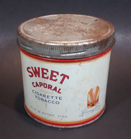 Vintage 1960s Sweet Caporal Cigarette Tobacco Tin with Lid - Imperial Tobacco - Treasure Valley Antiques & Collectibles