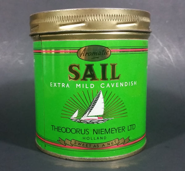 Vintage Sail Aromatic Extra Mild Pipe Tobacco Tin Can Holland Smooth Dutch Cavendish 6oz - Treasure Valley Antiques & Collectibles