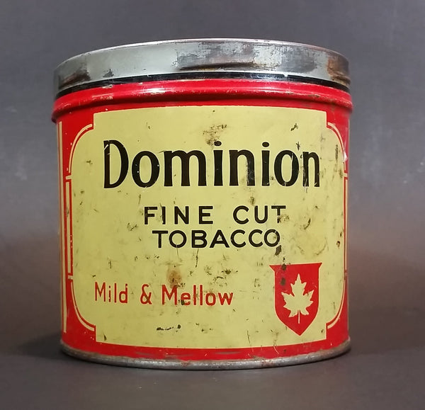 Vintage Dominion Mild & Mellow Fine Cut Tobacco Tin No Lid - Imperial Tobacco Montreal - Treasure Valley Antiques & Collectibles