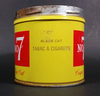 1960s Black Cat No. Number 7 Fine Cut Tobacco Tin - no lid - Treasure Valley Antiques & Collectibles
