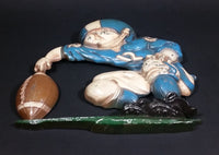 Vintage 1976 Homco USA Cast Aluminum Metalware Football Player Wall Hanging Decor - Treasure Valley Antiques & Collectibles