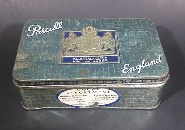 Rare Antique Pascall Confectioners Court Assortment Toffee, Caramel, Sweets Tin - Treasure Valley Antiques & Collectibles