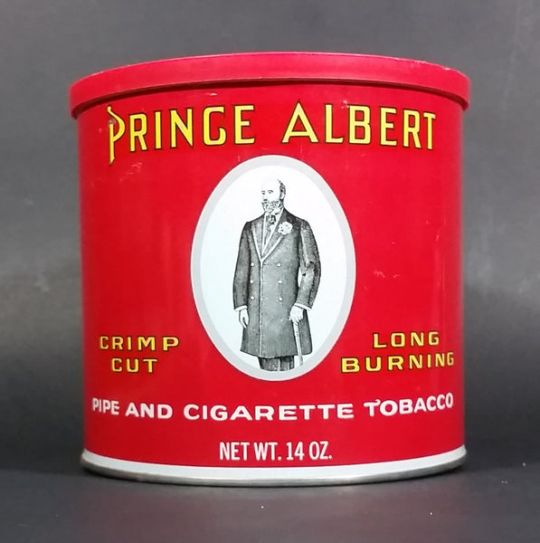 Vintage Prince Albert Pipe And Cigarette Tobacco 14oz Tin with plastic Lid Top - Treasure Valley Antiques & Collectibles