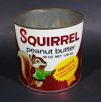 Vintage 1970s Squirrel Peanut Butter 48 oz Net 1.36kg Tin Can No Lid - Treasure Valley Antiques & Collectibles
