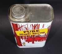 Vintage Rare French Canada Maple Syrup Tin Can 1991 French and English 4 Litres Great Graphics - Treasure Valley Antiques & Collectibles