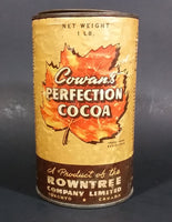 Antique 1920s Rowntree Cowan's Perfection Cocoa Tin - Treasure Valley Antiques & Collectibles