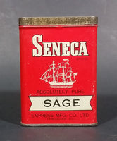 1940s Empress Seneca Brand Sage Tin (Still has Sage) - Treasure Valley Antiques & Collectibles