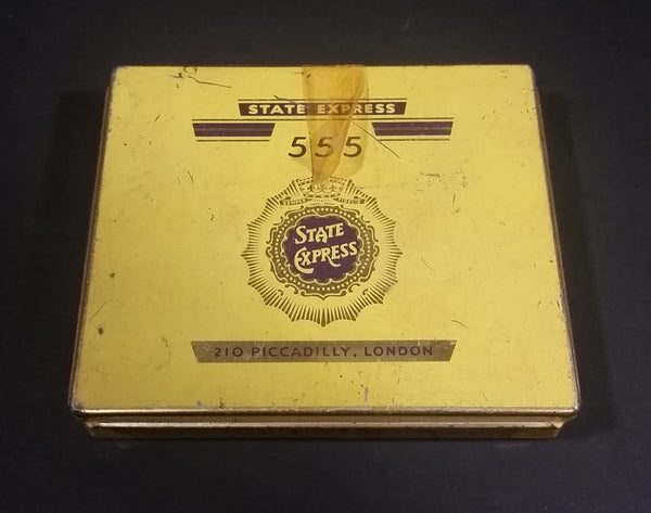 1950s State Express 555 Cigarettes Litho Tin Box Good Condition - Treasure Valley Antiques & Collectibles