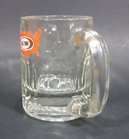1972-1975 A & W Promotional Advertising United States Map Clear Glass Root Beer Mug - Treasure Valley Antiques & Collectibles