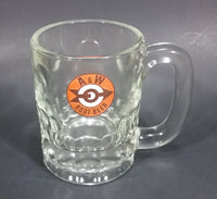 "1961-1968 A & W Allen & Wright Soda Pop Beverage 4 1/4"" Clear Glass Root Beer Mug - Treasure Valley Antiques & Collectibles"