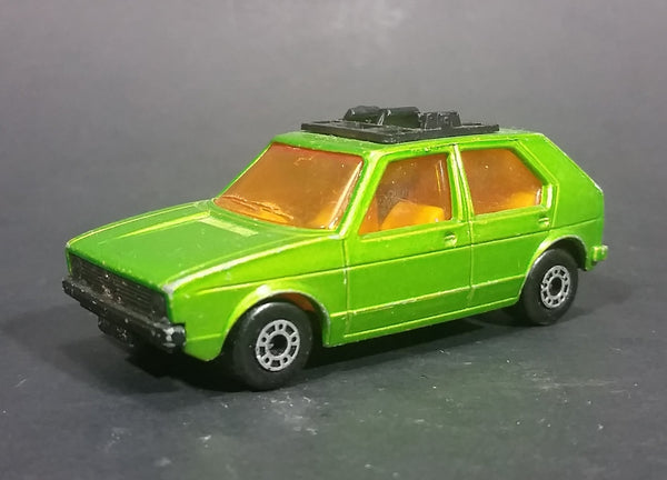 1976 Lesney Products Matchbox Lime Green Superfast No. 7 VW Volkswagen Golf Toy Car - Treasure Valley Antiques & Collectibles