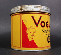 1960s Vogue Mild Cigarette Tobacco Tin w/ Lid - Treasure Valley Antiques & Collectibles