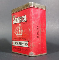 1940s Empress Seneca Brand Black Pepper Tin (Still has Pepper) - Treasure Valley Antiques & Collectibles