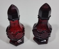 Vintage Avon Cape Cod Collection Ruby Red Salt & Pepper Shakers - Treasure Valley Antiques & Collectibles