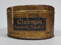 Antique Rock City Tobacco Clubman Cut Plug Smoking Pipe Tobacco Tin No Lid - Treasure Valley Antiques & Collectibles