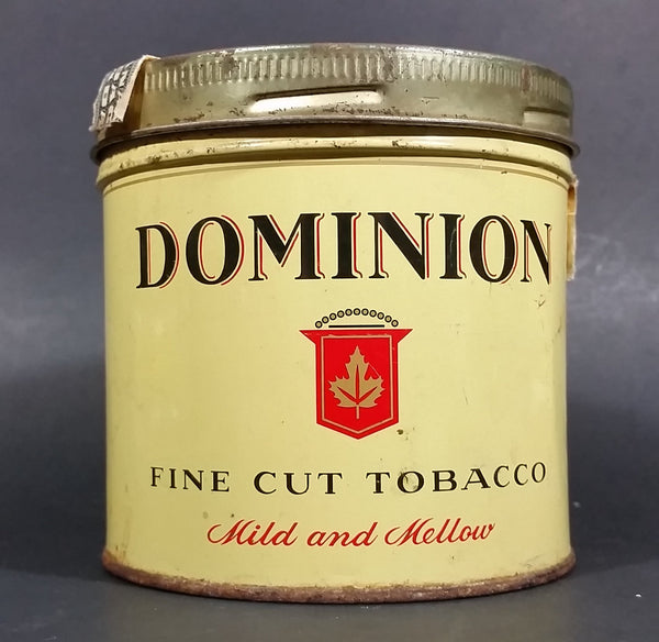 Vintage Dominion Mild & Mellow Fine Cut Tobacco Tin With Lid - Treasure Valley Antiques & Collectibles