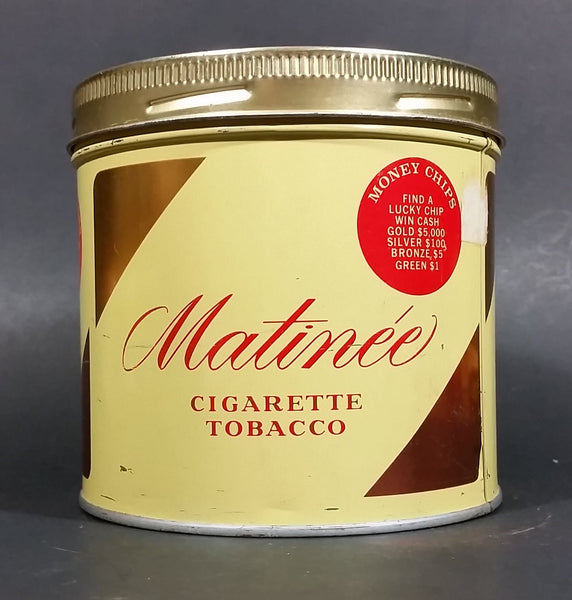 Vintage 1969 Matinee Cigarette Tobacco Tin Imperial Tobacco Money Chips Promo Bilingual - Treasure Valley Antiques & Collectibles