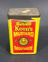 Vintage Keen's Mustard Tin Spice Container 113g 4 oz Colman Foods of Norwich England - Treasure Valley Antiques & Collectibles