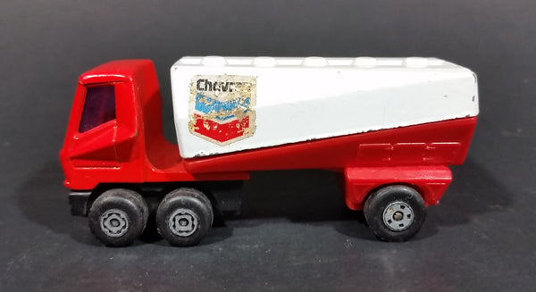 1973 Lesney Matchbox SuperFast 900 Chevron Red and White Freeway Gas Tanker without Trailer - Treasure Valley Antiques & Collectibles