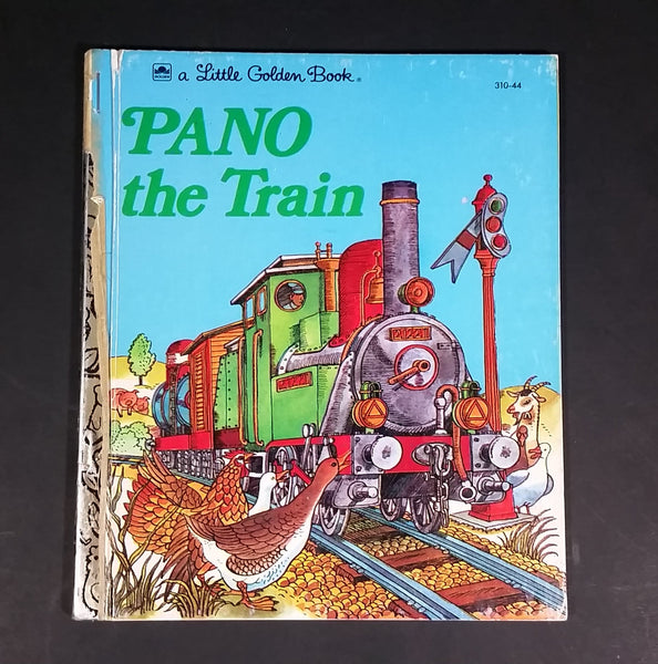 "Pano The Train - Little Golden Books - 310-44 - Collectible Children's Book - ""J Edition"" - Treasure Valley Antiques & Collectibles"