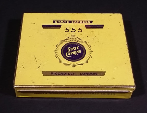 1950s State Express 555 Cigarettes Litho Tin Box - Treasure Valley Antiques & Collectibles