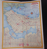 1956 Shell Street Guide and Map of Vancouver and Vicinity - Jim Menning Shell Service 41st & Dunbar - Treasure Valley Antiques & Collectibles