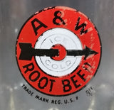 "1948-1961 A & W Allen and Wright Ice Cold Root Beer Arrow Logo "" Clear Glass Mug - Treasure Valley Antiques & Collectibles"