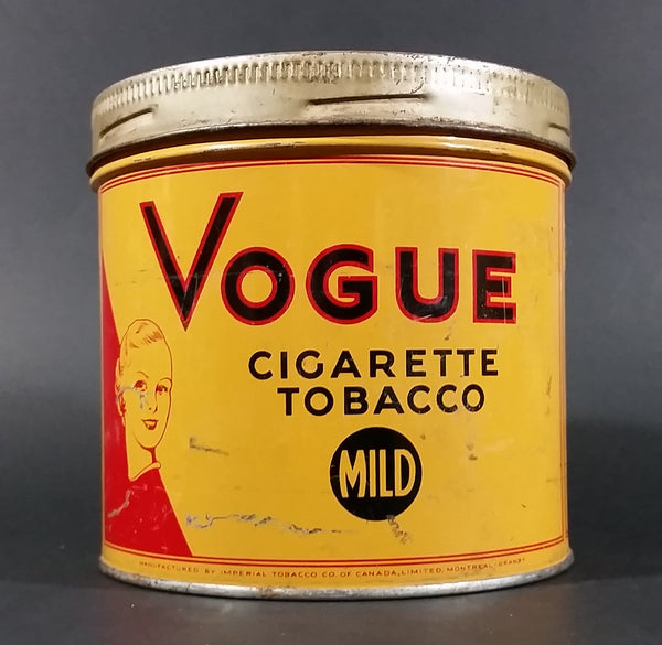 1960s Vogue Mild Cigarette Tobacco Tin with Lid - Treasure Valley Antiques & Collectibles