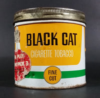 Vintage Black Cat Fine Cut Cigarette Tobacco Tin with Lid - Treasure Valley Antiques & Collectibles