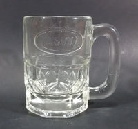 "1970s-1980s A & W Allen and Wright Embossed Clear 4 1/2"" Root Beer Mug - Treasure Valley Antiques & Collectibles"