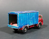 1967-1972 Lesney Matchbox No. 44 GMC Refrigerator Truck Red/Blue (Bumper, No Tow, w/ Door Stop) (A) - Treasure Valley Antiques & Collectibles