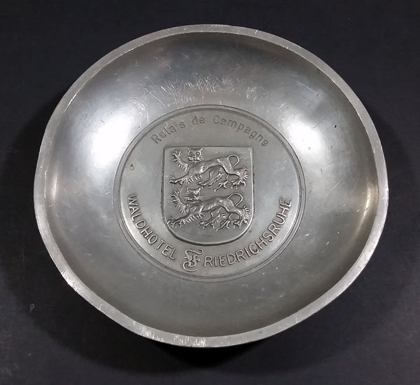 Mid-Century Germany Friedrichsruhe Waldhotel Souvenir Metal Ash Tray Dish - Treasure Valley Antiques & Collectibles
