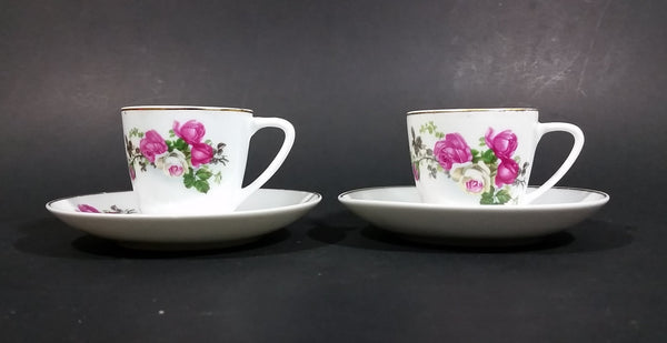 Set of 2 Vintage Floral Pattern Teacup and Saucer - Made in China - Treasure Valley Antiques & Collectibles