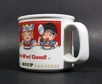 Set of 2 1997 Campbell's Soup M'm! M'm! Children Design Good Ceramic Soup Mug - Treasure Valley Antiques & Collectibles