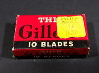 Vintage Gillette Thin Disposable Shaving Blades Box - Treasure Valley Antiques & Collectibles